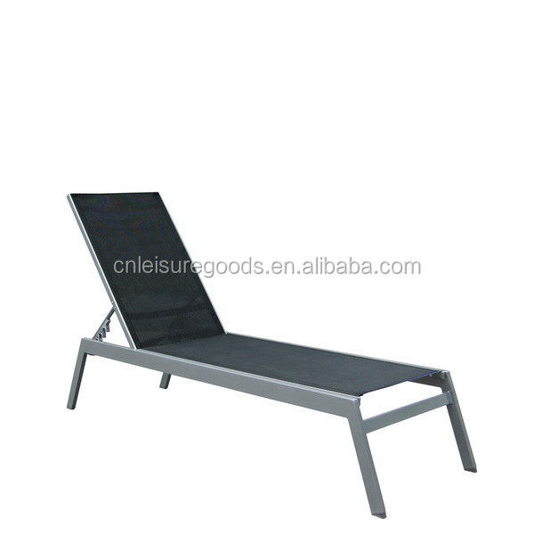 2017 new design outdoor poolside sling metal sunbed
