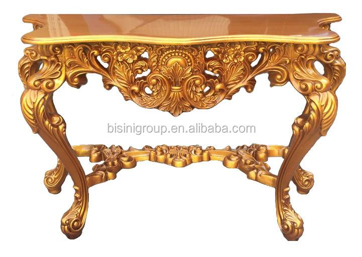 royal golden imperial rococo sculpture console table antique fran ais rococo style salon. Black Bedroom Furniture Sets. Home Design Ideas