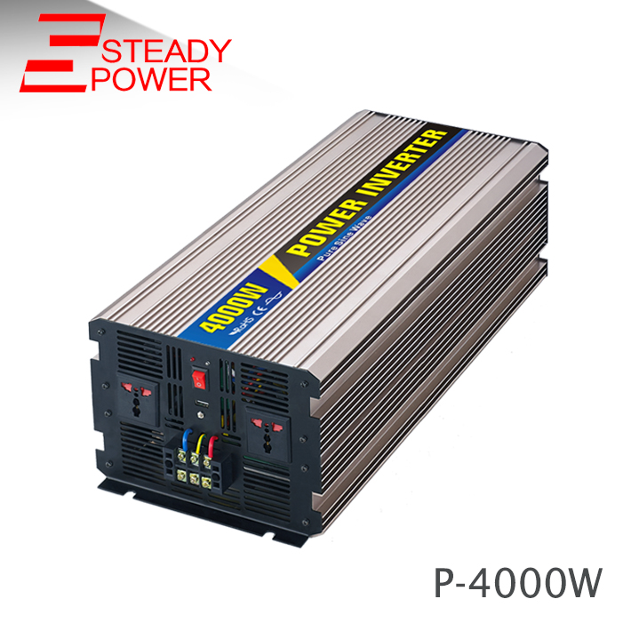 Factory price 4000 watt 12v 220v dc-ac car power inverter 4000w off-grid pure sine wave inverter for solar power system