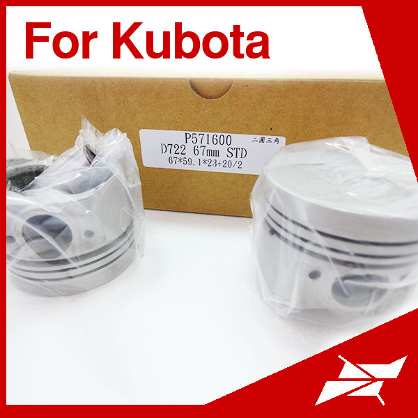D722 67MM piston for Kubota agriculture tractor engine parts