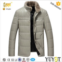 genuine leather fit soft impact men padded jacket