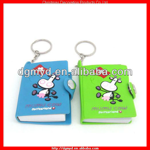 3D mini soft pvc notebook with key chain (MYD-PKC1535)