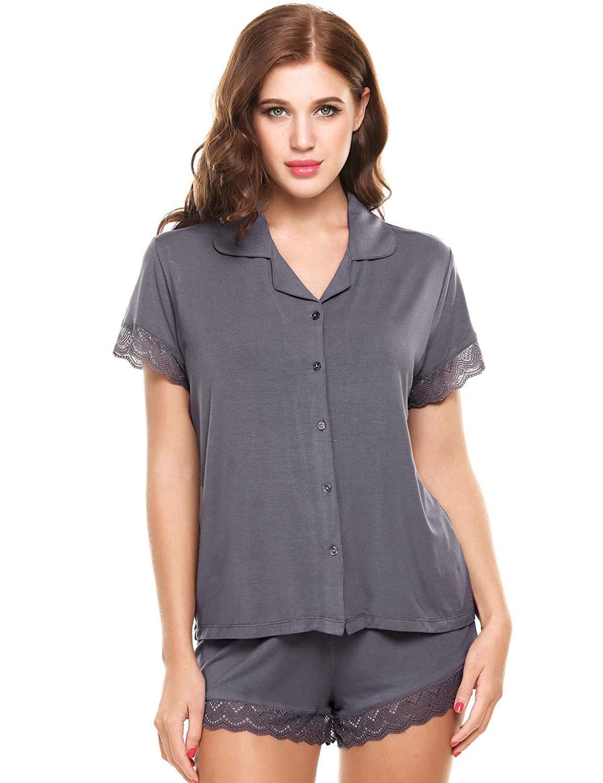 b3c0c468250 PEATAO Cute Pajamas Lingerie Sleepwear Womens Pyjama Sets Silk Nightgown Women s  Pajama Sets Pajama Shorts Sets