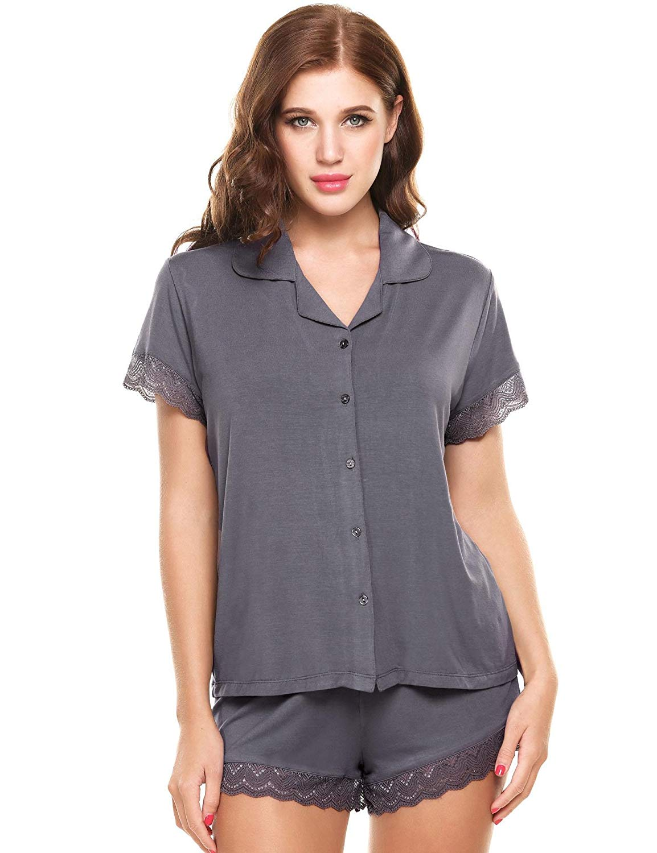 e5bb3d0e218 Get Quotations · PEATAO Cute Pajamas Lingerie Sleepwear Womens Pyjama Sets  Silk Nightgown Women s Pajama Sets Pajama Shorts Sets