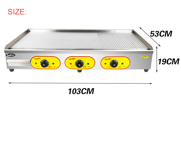 EG-8110 Restaurant Tabletop Non-stick Flat Plate Grill /Hot Plate And Grill /Professional Electric Cast Iron Griddle