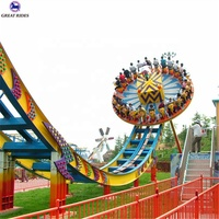 China manufacturer thrilling outdoor amusement park attraction magic bowl flying disco rides for sale