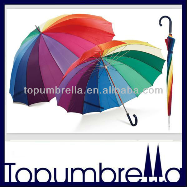 "23"" 8k rainbow color transparent umbrella with16k rainbow umbrella"