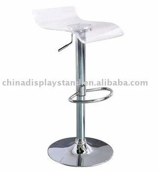square clear acrylic bar stool