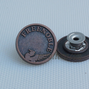 plating flat casting name design jean metal button