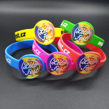 Full Color Print Silicone Bracelet For Kids Wristband