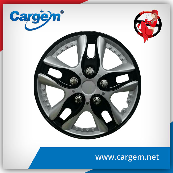 CARGEM Universal Black Hubcaps Wheel Covers For Mazda Skoda Toyota
