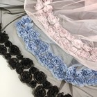 Rose design embroidery tulle bridal veil tulle fabric for bridal