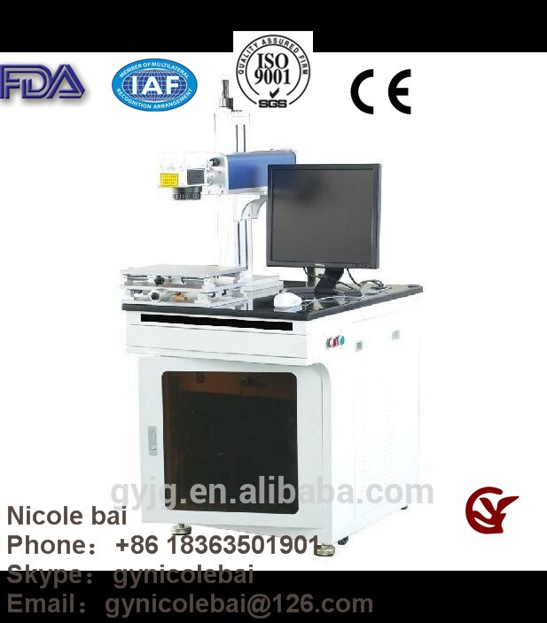 Overseas service and CE Certification shandong China Desk type metal fiber laser marking GY-F10 F20