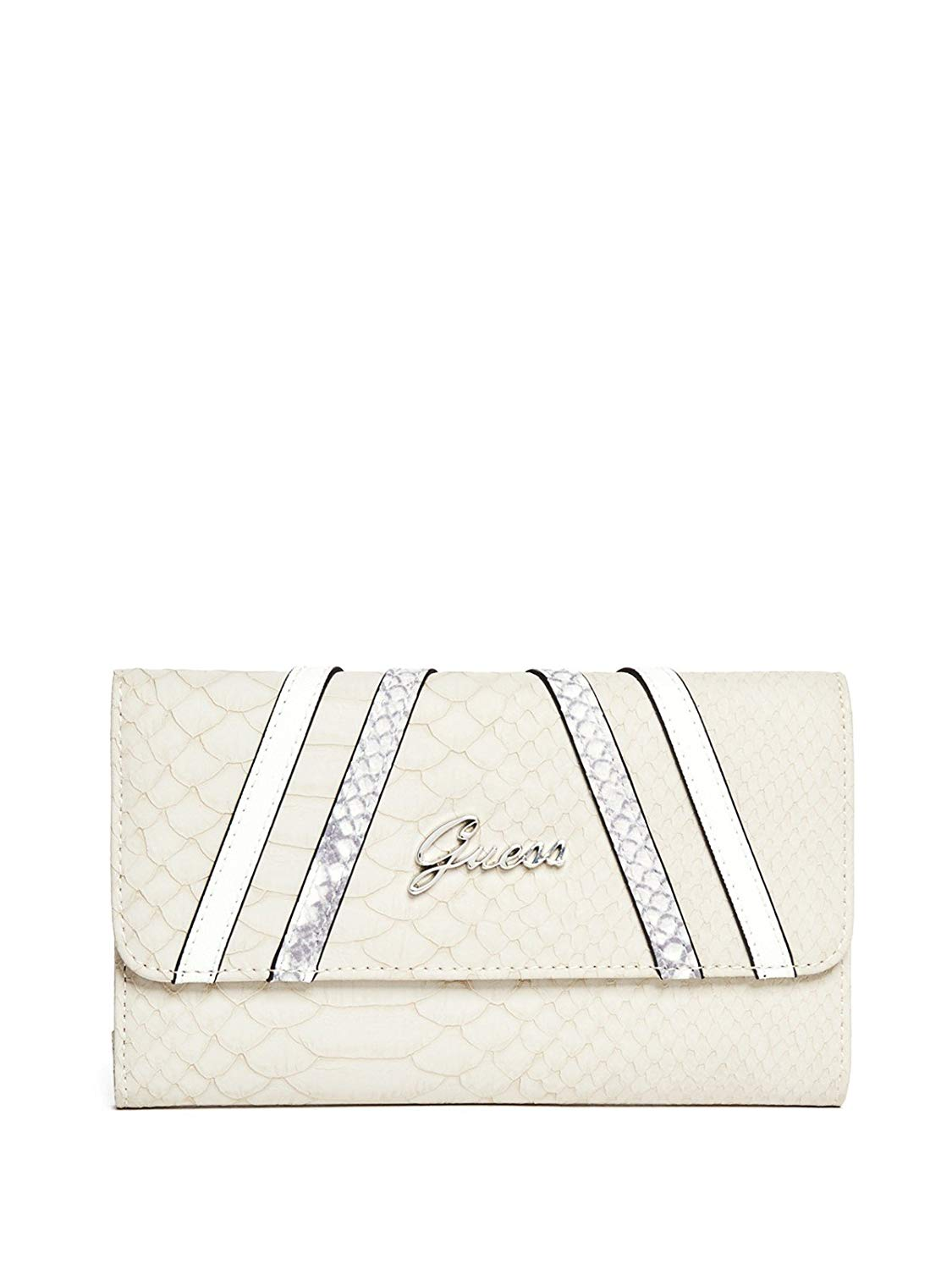 f327c0f8f7 Get Quotations · GUESS Womens Alton Flap Clutch