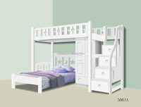 White New design kids bunk bed Home furniture Best price Wholesaler 2016
