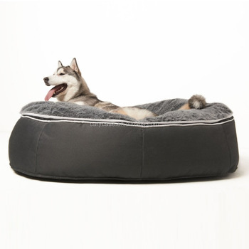 Extra Large Luxury Indoor Outdoor Pet Bed Faux Fur Cover Dog Sleeping Cushion