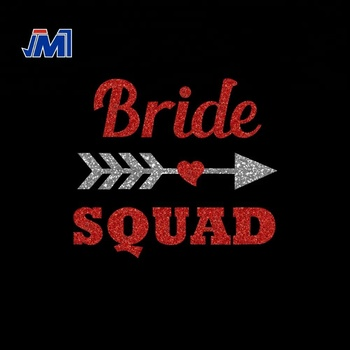 Bride squad Glitter Squad Wholesale Heat Glitter Transfer for Clothing