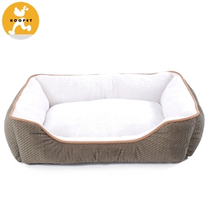 OEM China Newest Design Dog Soft Pet Beds Square Dog Bed Wholesale Pet Supplies
