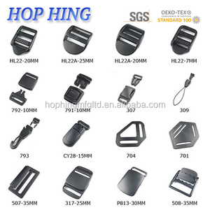 HOP HING plastic backpack buckle/ tape adjuster buckle /tape adjuster for back pack