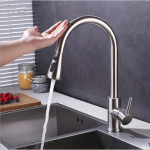 2 Function Pull Down Water Faucet Retractable Sink Mixer Taps Sensor touch upc Kitchen Faucet
