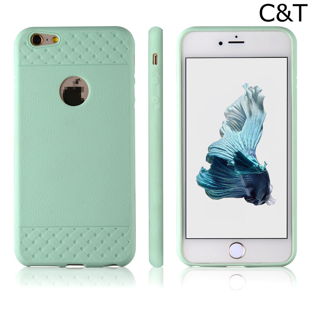 C&T Mint Green Silicone Soft Gel Rubber Skin Case Cover Accessory for Apple iPhone 6