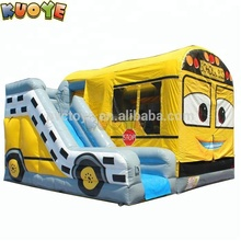 School Bus Mega 6 in 1 Combo Inflatable Jumper
