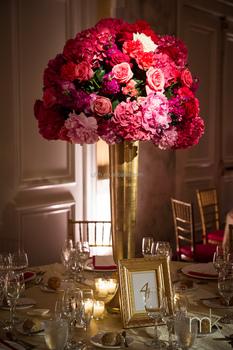 Good Quality Tall Vase For Wedding Table Centerpiece Decoration Gold Fibergl Flower Pot
