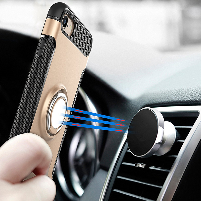 free shipping antishock para celular magnetic phone case for iphone x cover with Ring holder accesorios para celular