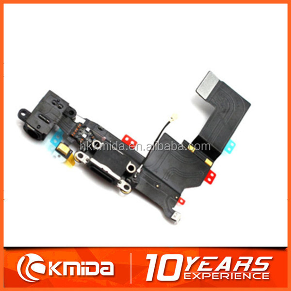 Replace New Charger Dock for iPhone 5S Connector flex cable charging port black and white color