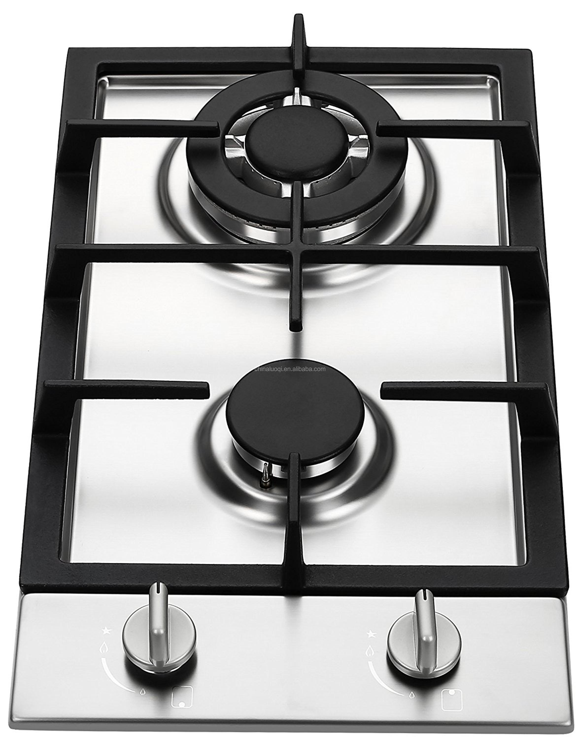 China manufacture Built-in stainless steel 2 burner gas stove gas hob butane kitchen cooktops
