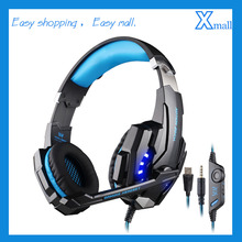 KOTION EACH G9000 3.5mm Gaming Headphone Headband Headset with Microphone LED Light for Laptop Mobile Phones/Xbox ONE/PS4
