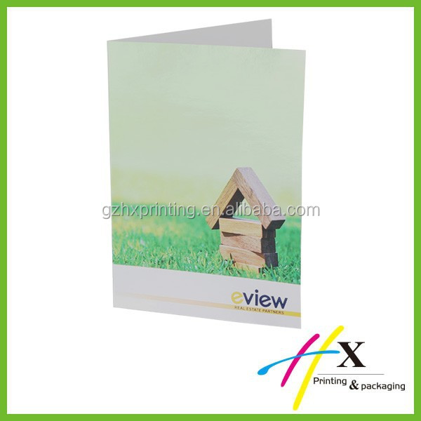 Custom high quality decorative & advertising pocket folder