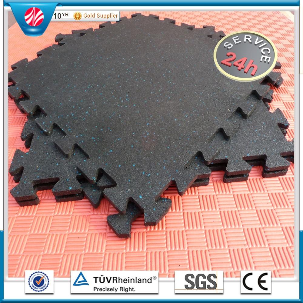 Rubber mats gym interlocking - Good Protective Interlocking Rubber Mats Puzzle Floor Tiles For Gym Interlocking Rubber Tile