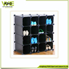 16 cubes plastic shoe storage cabinet, white and black color avaialable