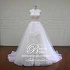 Beautiful Modern New Designs Strapless Lace Bridal Dress In Stock Sweetheart with Ruffle