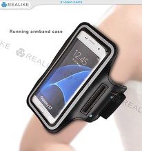 Best quality logo printed black running sport mobile phone armband case