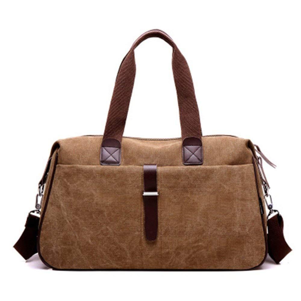 Crystalzhong Canvas Traveling Bag, Canvas Drum Bag, Handbag, Luggage Bag, Men And Women Sports Fitness Single Shoulder Portable Trunk.