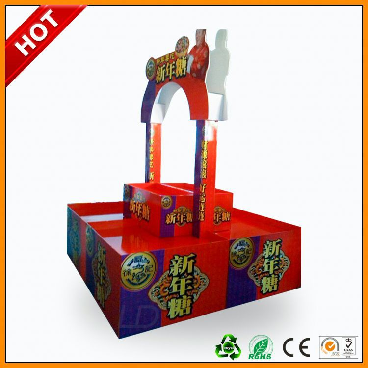 Professional Manufacturer custom design point of sales candy pallet display