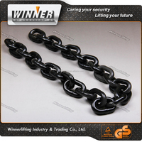 Drop forged steel galvanized twisted link chain