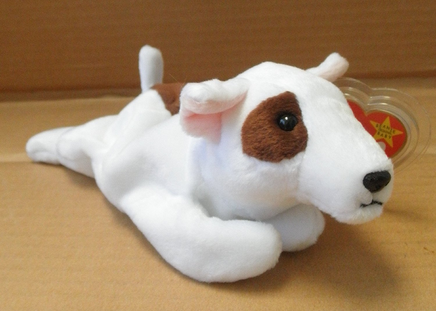 8fa438b8d49 TY Beanie Babies Butch the Bull Terrier Dog Stuffed Animal Plush Toy - 8  inches long