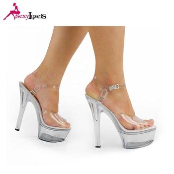 5de973097c 15 cm alibaba venda quente mulheres de salto alto sexy ladies sandália  plataforma transparente sapatos para