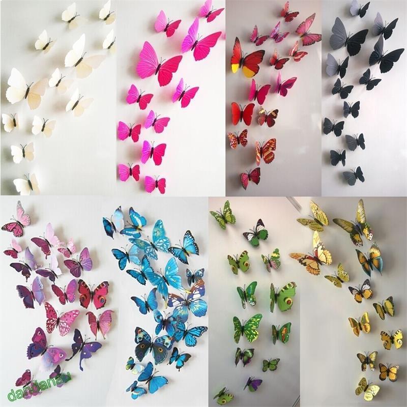 Butterfly Home Decor: DIY 3D Cute Butterfly Mirror Wall Stickers Decals Wall Art