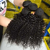 afro kinky curly human hair extensions lace frontal piece