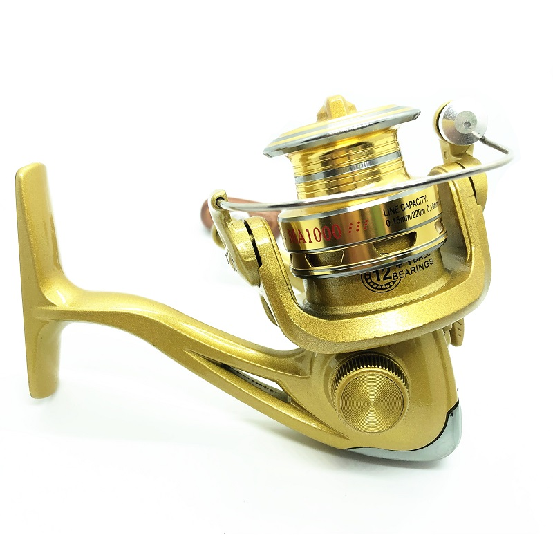 12+1BB Small Baitcasting Reels for Lure Rod Gear Ratio 5:0:1 MA1000 Spinning Reel Fishing Rod Tool Outdoor Sports