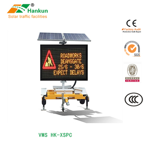 Outdoor portable customized trailer LED display screen road traffic sign VMS