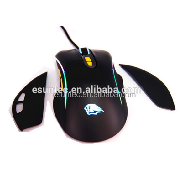 New design Comfortable RGB Ergonomic gaming Mouse with magnetic auto assembly parts GM-101U