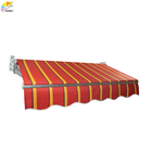flexible aluminum folding patio balcony awnings canopy/rain sun shade
