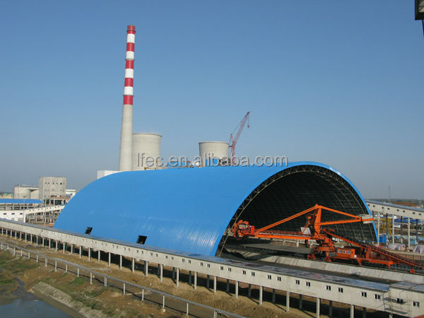High quality shell steel space frame dome storage building