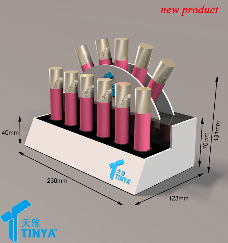 China supplier OEM/ODM custom acrylic lucite clear lipstick holder