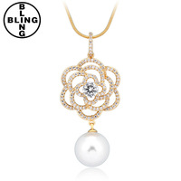 >>>High quality colorful unique cubic zircon plating Rhodium artificial gold long chain imitation necklace